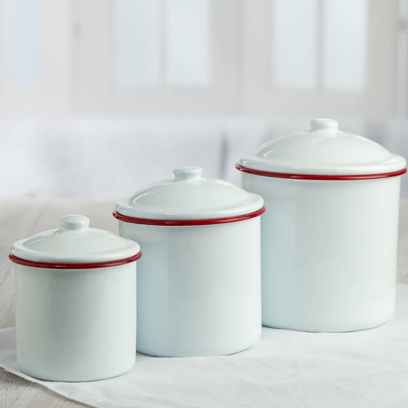 28+ [ White Enamel Kitchen Canisters Set ] | White Enamel