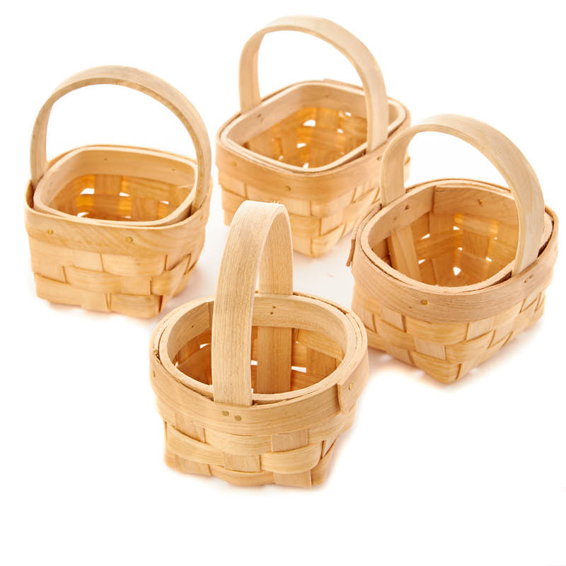 Basket Making Materials Suppliers : Miniature chipwood basket doll accessories making