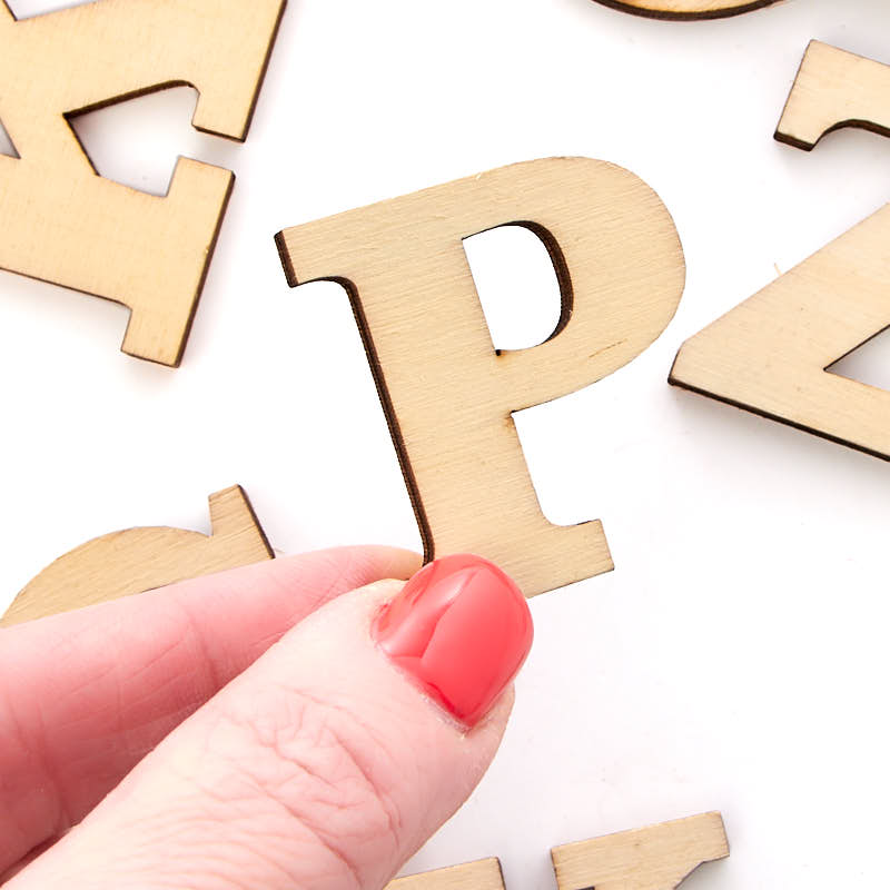 uppercase unfinished wood letters - word and letter cutouts - wood crafts