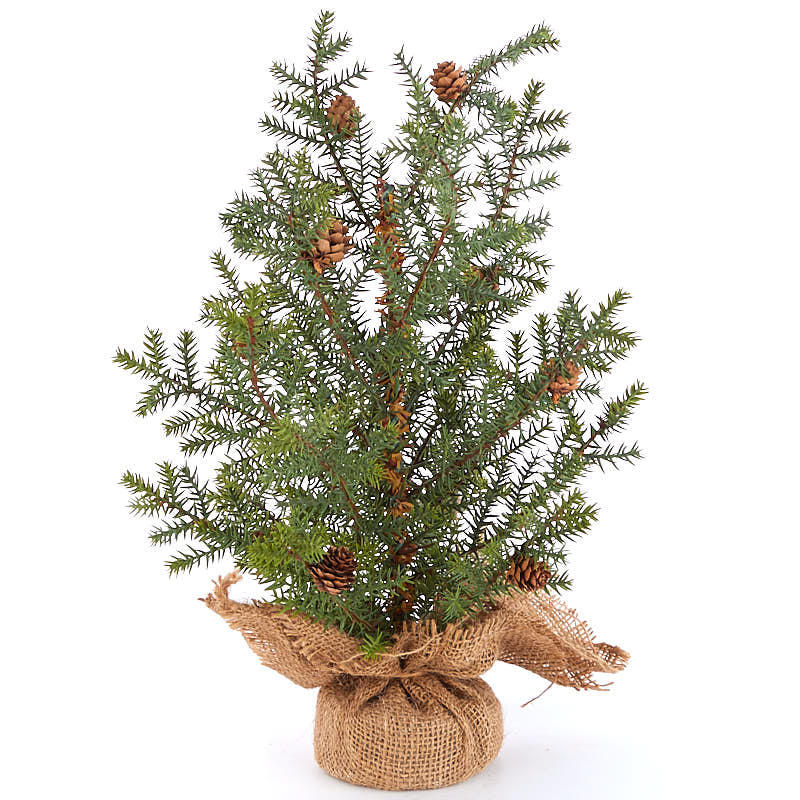 Artificial Pine Tree With Burlap Base Trees And Toppers