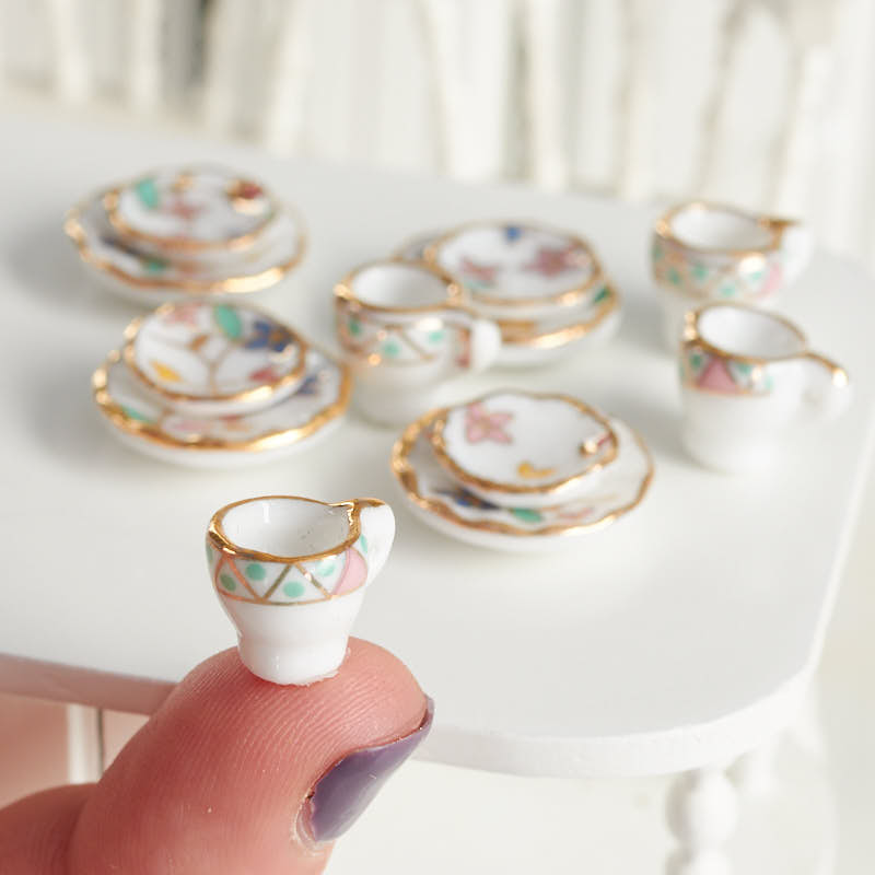 Miniature Dollhouse China Place Setting