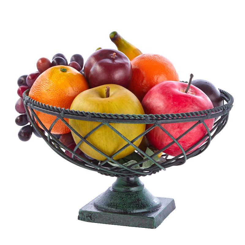 Mixed Artificial Fruit And Bowl Set Table Decor Home Decor