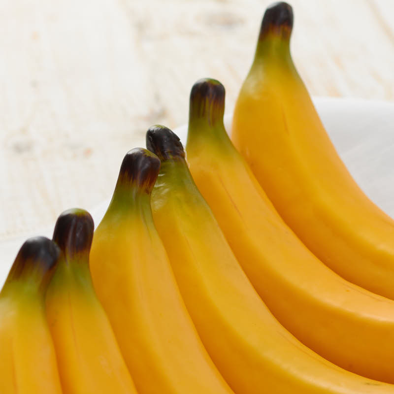 Group Of Artificial Bananas Vase And Bowl Fillers Home