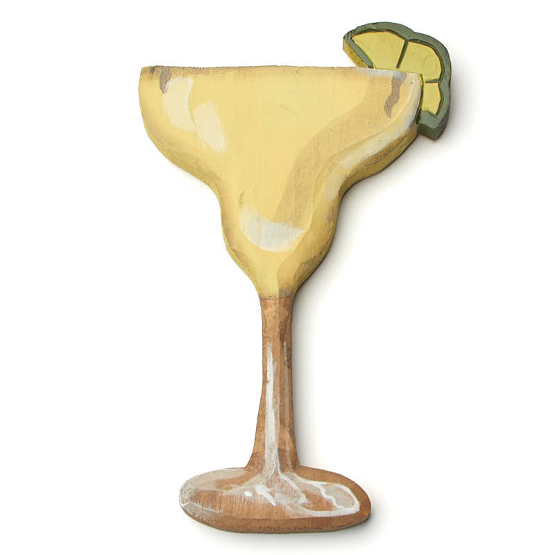 Hand Carved Margarita Time Wall Decor - Wood Cutouts - Unfinished ...