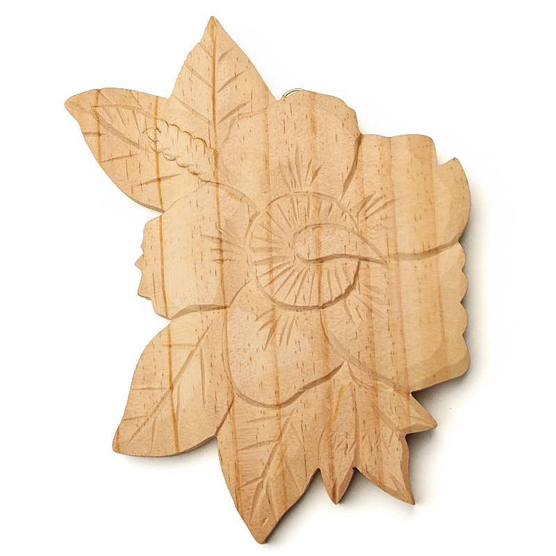 Hand Carved Tropical Flower Wall Decor - Wood Cutouts - Wood Crafts ...