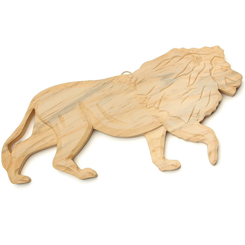 Hand Carved Lion Wall Decor - Wood Cutouts - Unfinished Wood - Craft ...