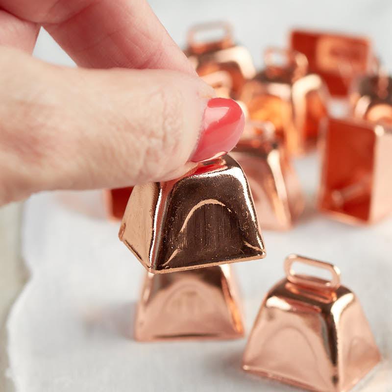 Small Copper Metal Cowbells Bells Basic Craft Supplies