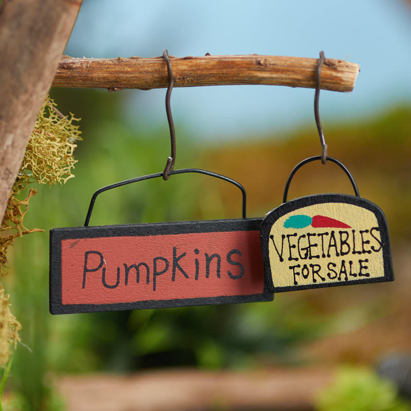 Miniature Garden Signs Halloween And Fall Miniatures Dollhouse