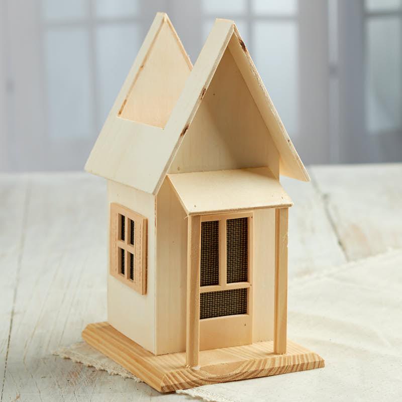 Unfinished Wood Planter House Wood Craft Kits Wood