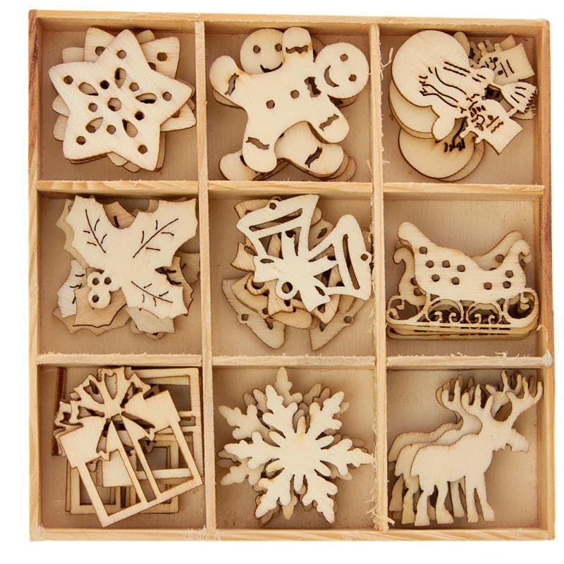 Unfinished Wood Laser Cut Christmas Cutouts - Wood Cutouts ...