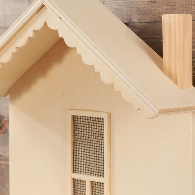 Sale Home Decor: Unfinished Wood Cabin Wall Shelf