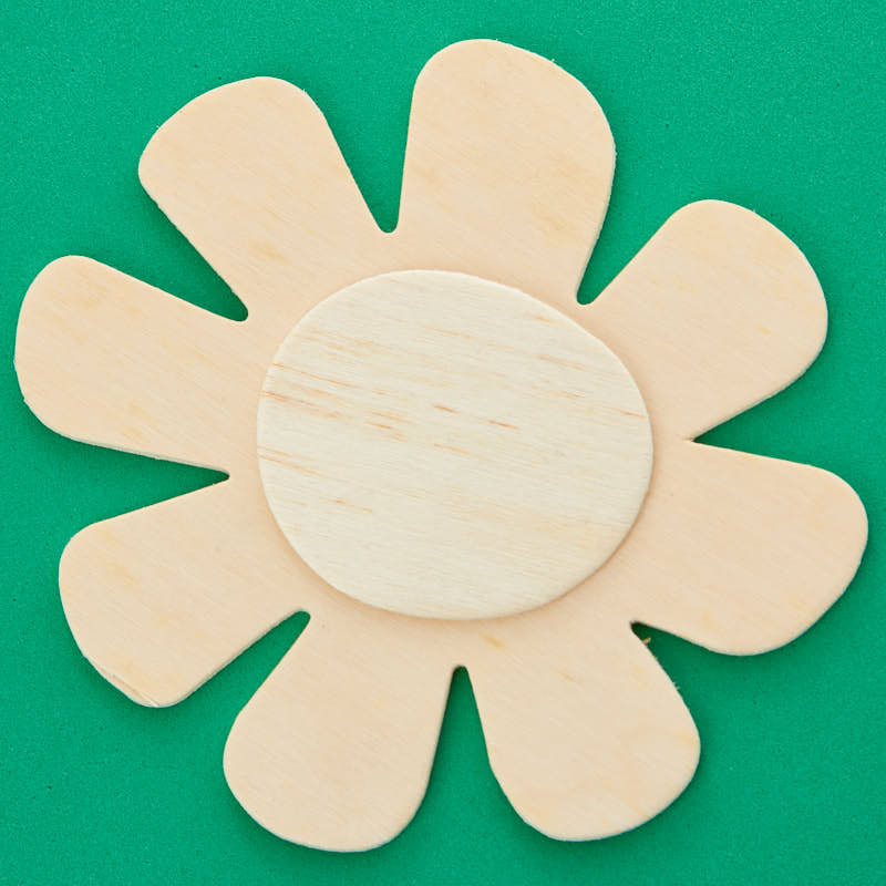 Unfinished wood dimensional flower cutout wood cutouts for Wood cutouts for crafts