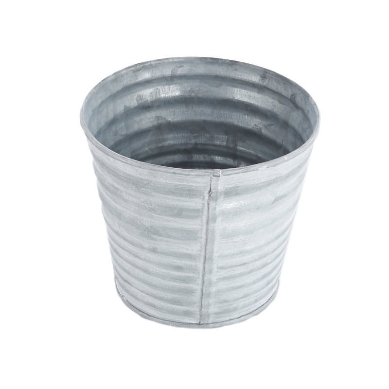 small round galvanized pot baskets buckets boxes