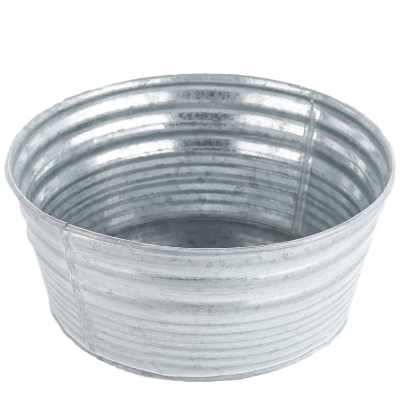Round Galvanized Washtub Baskets Buckets Amp Boxes