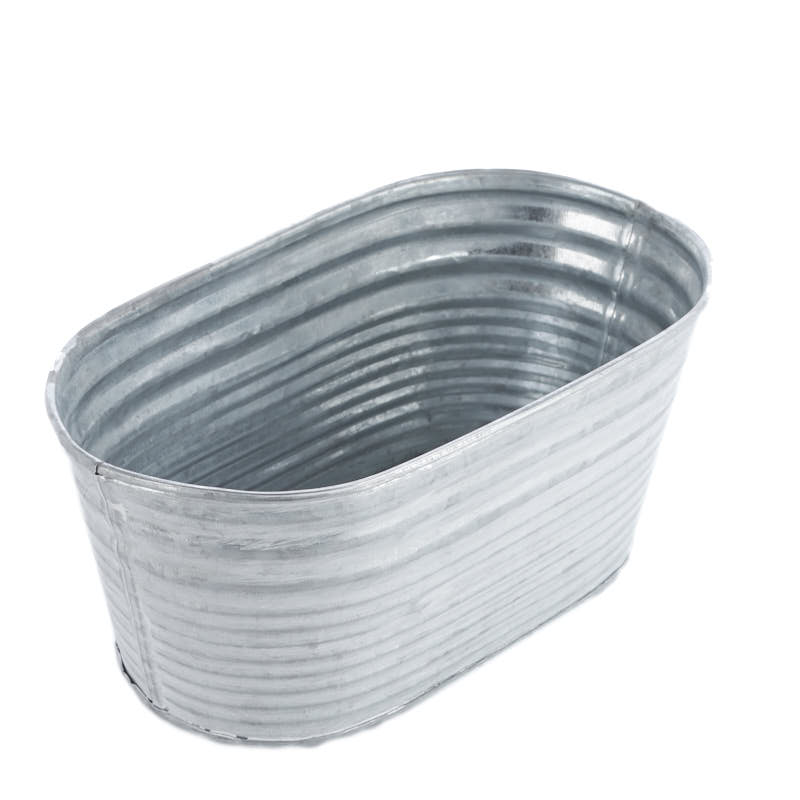Oval Galvanized Washtub Baskets Buckets Amp Boxes Home