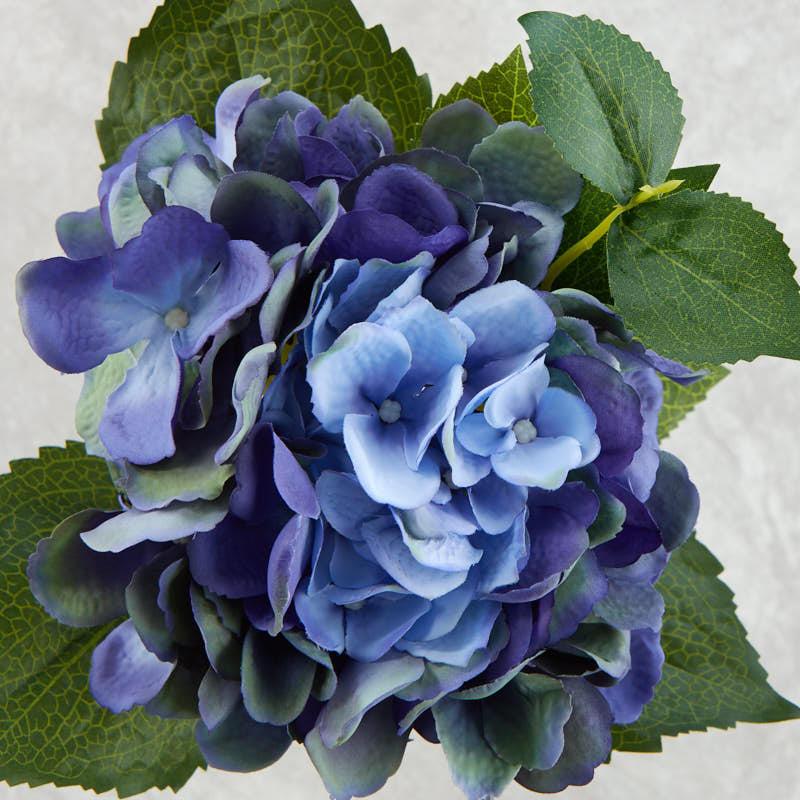 blue artificial hydrangea stem - picks   sprays