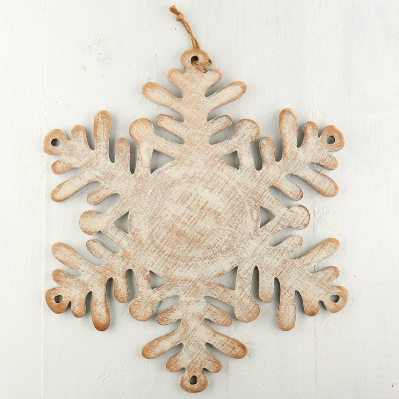 Large Rustic Wood Snowflake Wall Art Christmas And Winter