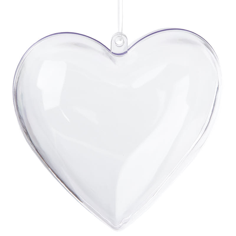 Clear acrylic fillable heart ornaments acrylic fillable for Clear plastic balls for crafts