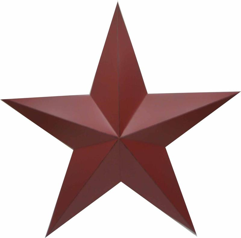 Large red dimensional barn star americana decor home decor for Barn star decorations home