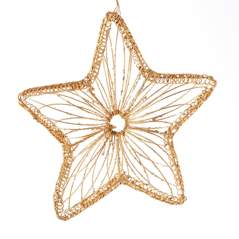 Gold wire star ornament christmas ornaments