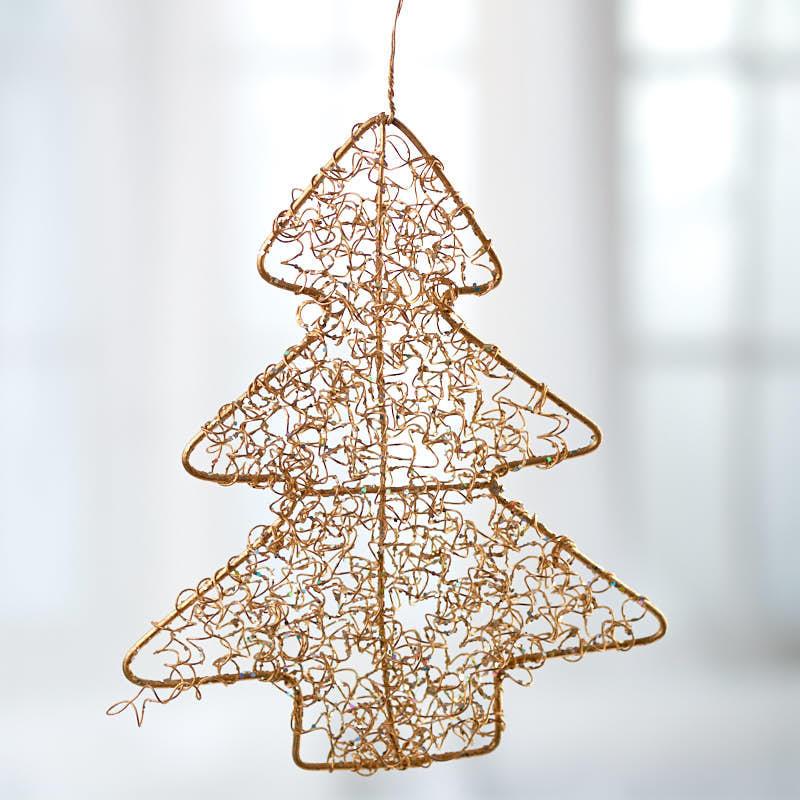 Gold Wire Mesh Christmas Tree Ornament - Christmas ...