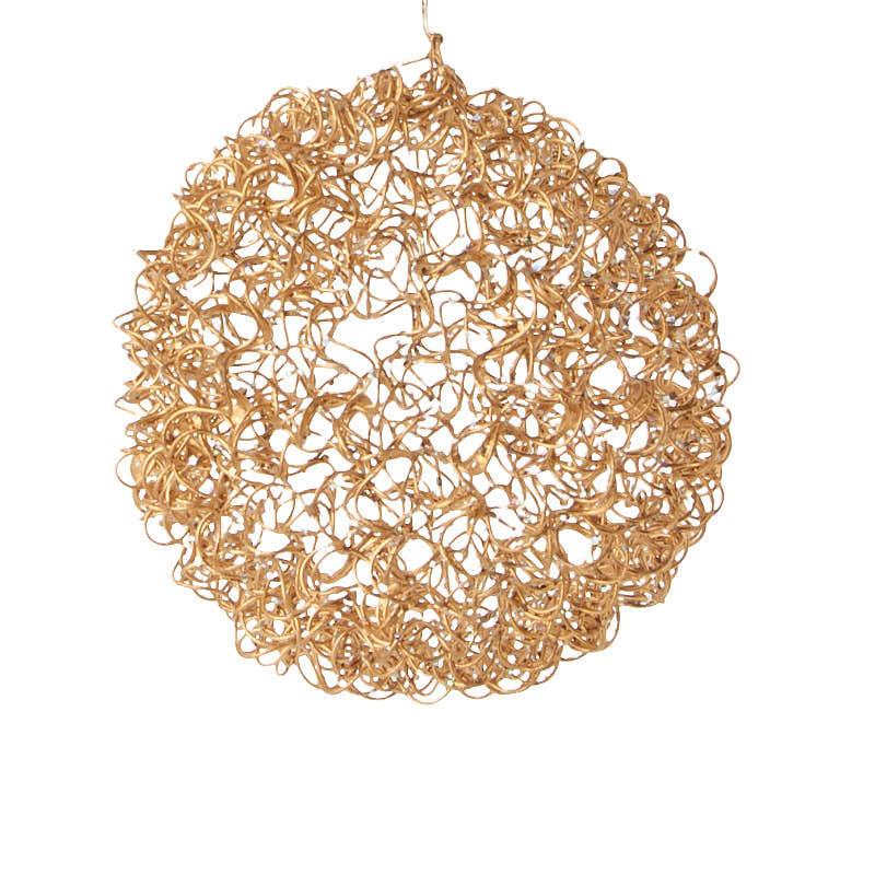 Sale Home Decor: Gold Wire Mesh Ball Ornament