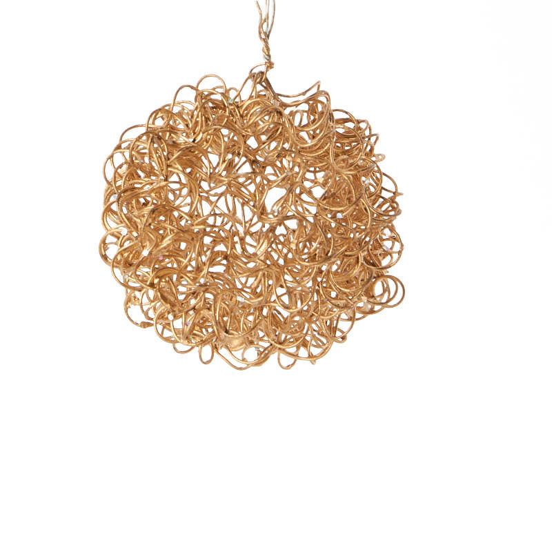 Small gold wire mesh ball ornament on sale holiday crafts for Small gold christmas ornaments