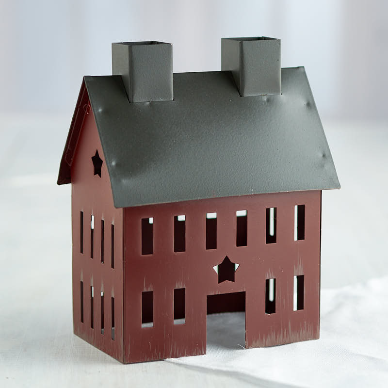 Rustic Tin Colonial Saltbox House