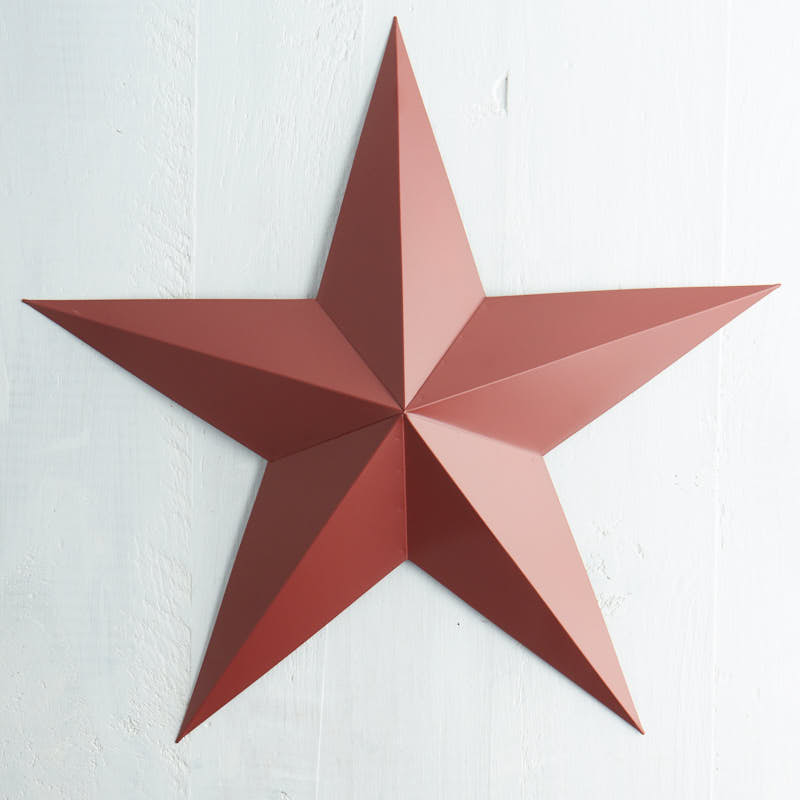 Red Star Wall Decor : Barn red star wall decor home