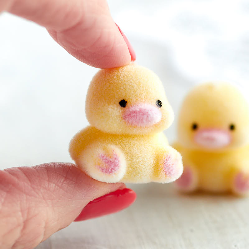 Miniature Flocked Chicks Spring And Easter Holiday Crafts