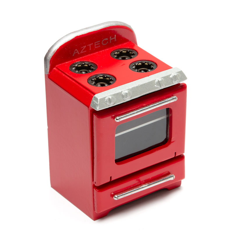 Dollhouse Miniature Red Retro Kitchen Stove Kitchen