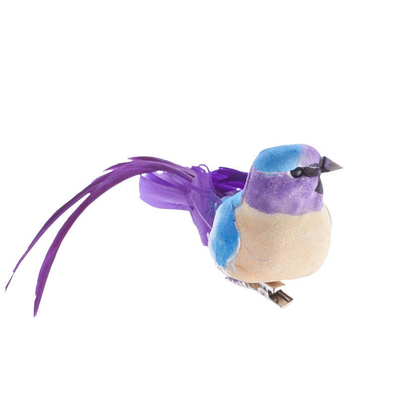 Long tail artificial blue bird birds butterflies for Fake birds for crafts