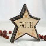 """Primitive """"Faith"""" Chunky Wood Star"""