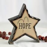 "Primitive ""Hope"" Chunky Wood Star"