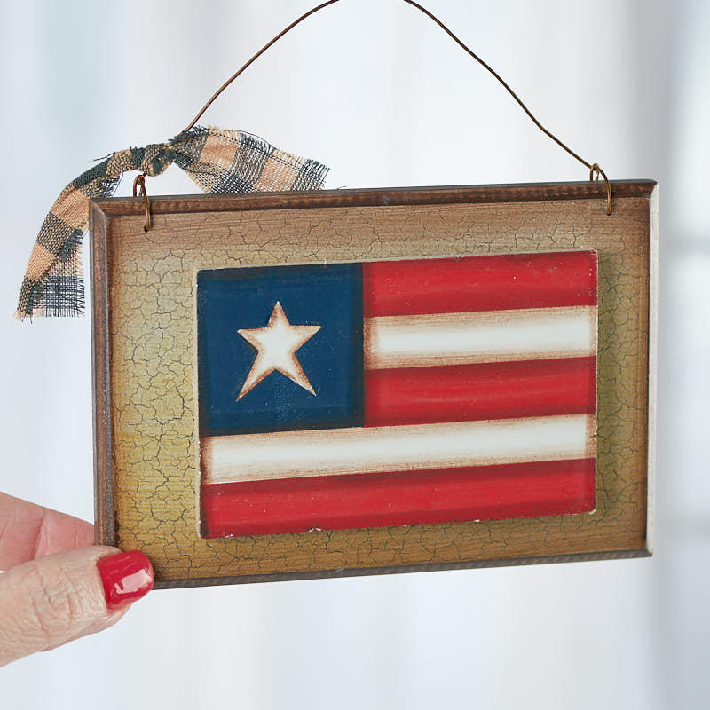 Primitive american flag plaque sign americana decor American home decor catalog