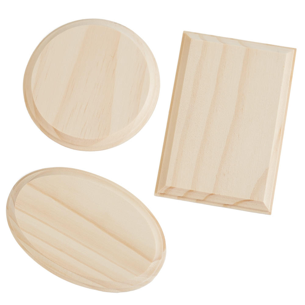 Beveled unfinished wood plaques wooden plaques and signs for Wood craft supply stores