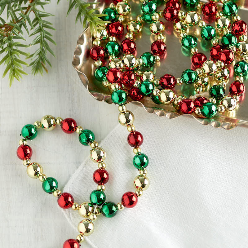 click here for a larger view - Beaded Christmas Garland