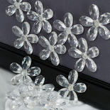 Clear Flower Magnets