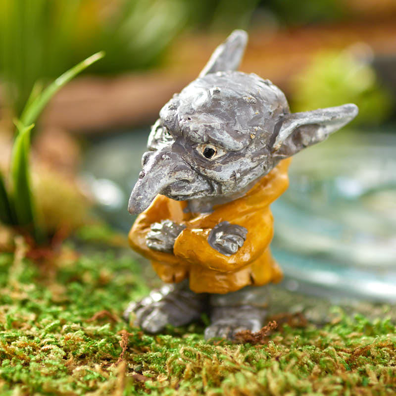 miniature ichabod the garden troll fairy garden