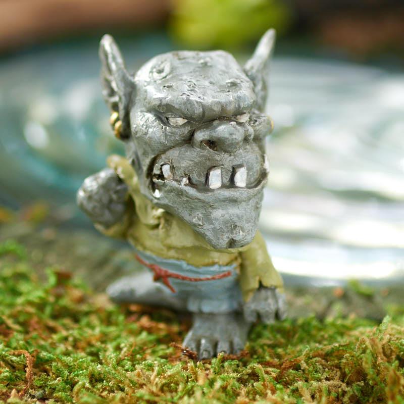 Miniature drudge the garden troll fairy garden for Garden trolls