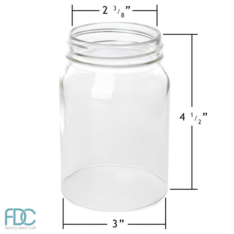 Glass Mason Jar with Open Bottom