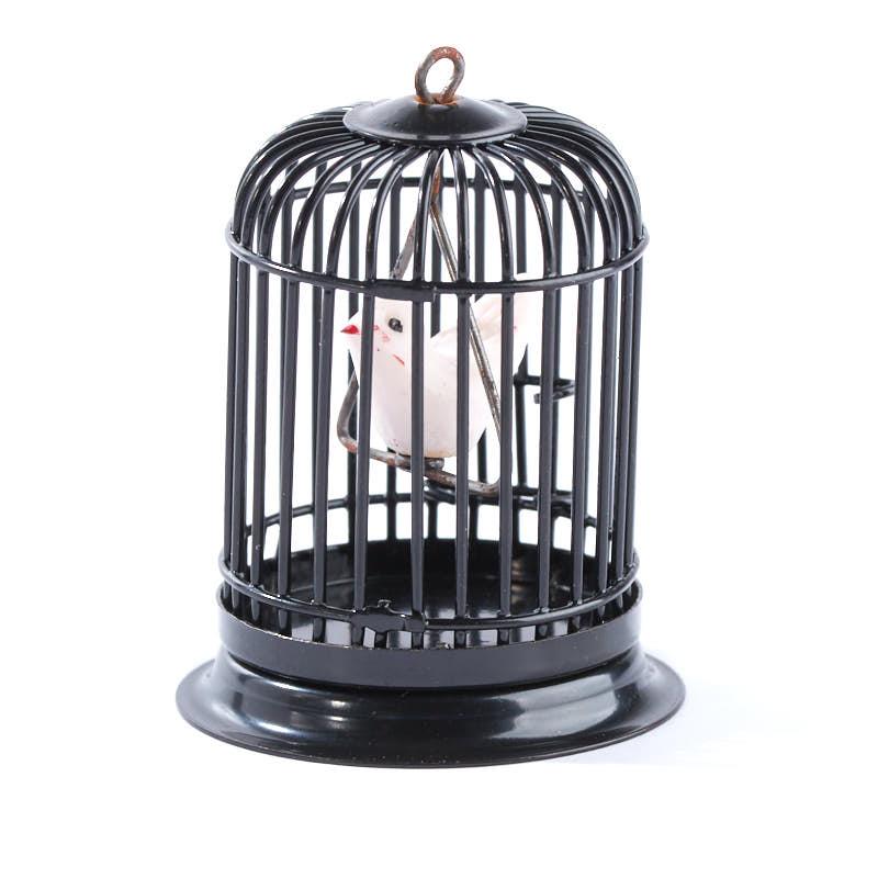 Dollhouse Miniature Black Wire Birdcage