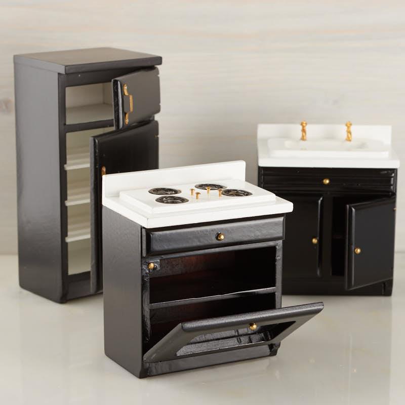 Miniature Kitchen: Dollhouse Kitchen Appliance Set