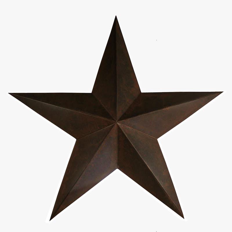 """24"""" Large Rusty Tin Barn Star - Barn Stars - Primitive Decor"""