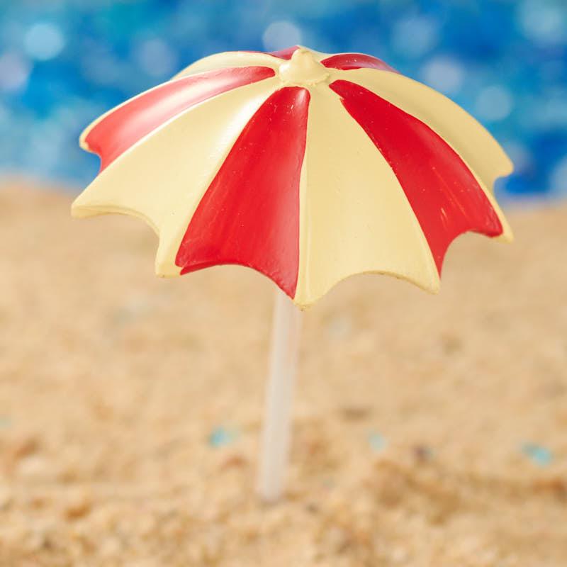 Miniature beach umbrella fairy garden miniatures