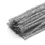 Silver Metallic Tinsel Twist Ties