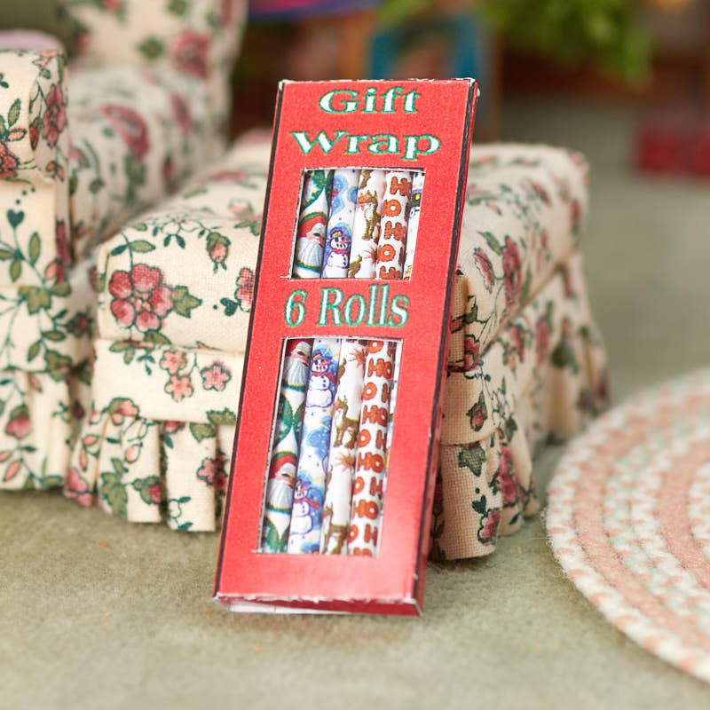 miniature box of christmas wrapping paper  christmas