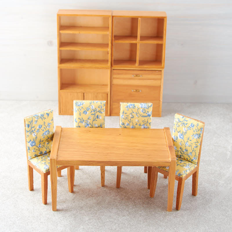 Item# T0140 Little Things Are Always Endearing And This Little Miniature Mid  Century Modern Dining Room Set ...