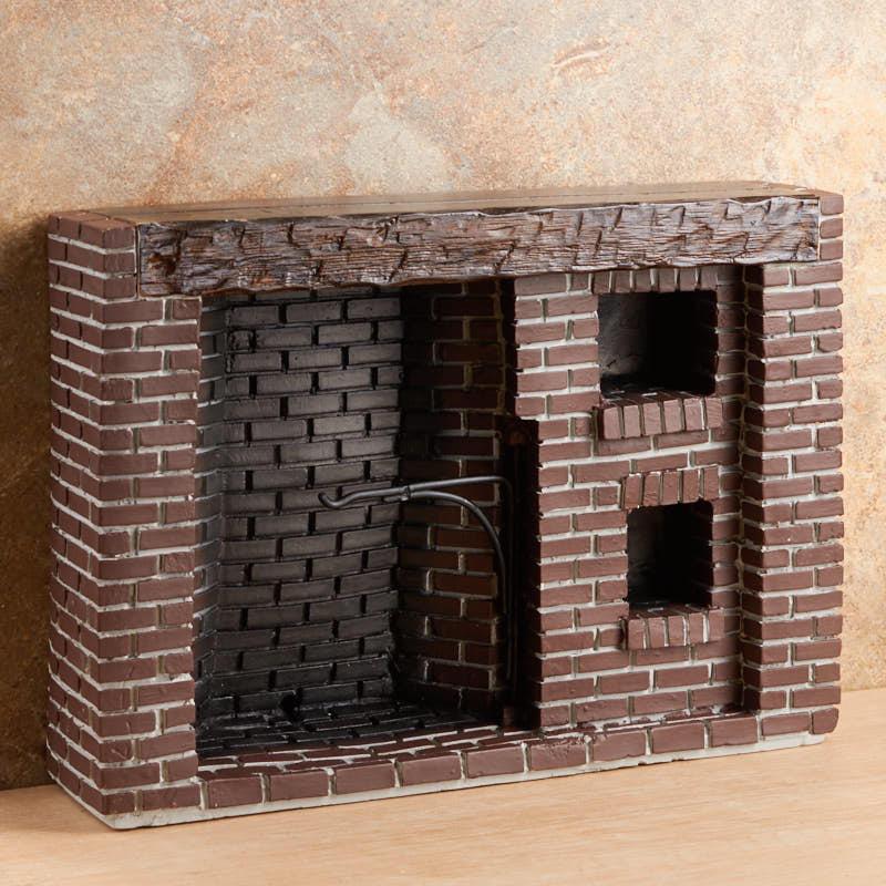 Dollhouse Miniature Roombox Sitting Room: Dollhouse Miniature Colonial Brick Fireplace