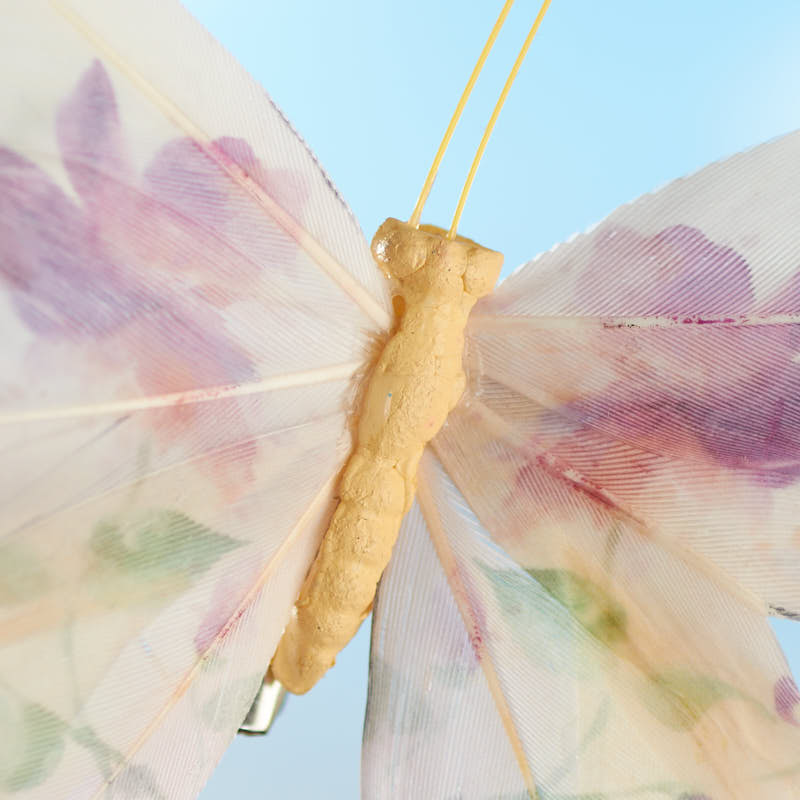 Floral feather artificial butterfly birds butterflies for Synthetic feathers for crafts